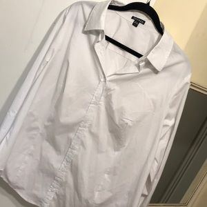 George women's white button up 2xl